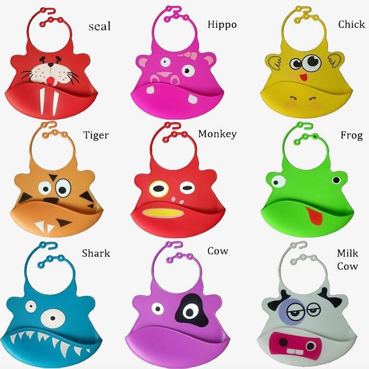 Silicone baby bib, water proof