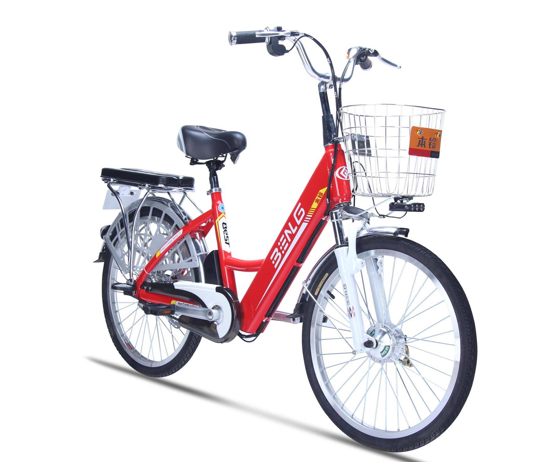 250W convenient Lithium e-bike green bike rental bike