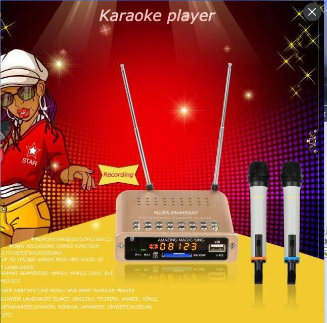 Fashionable portable karaoke player