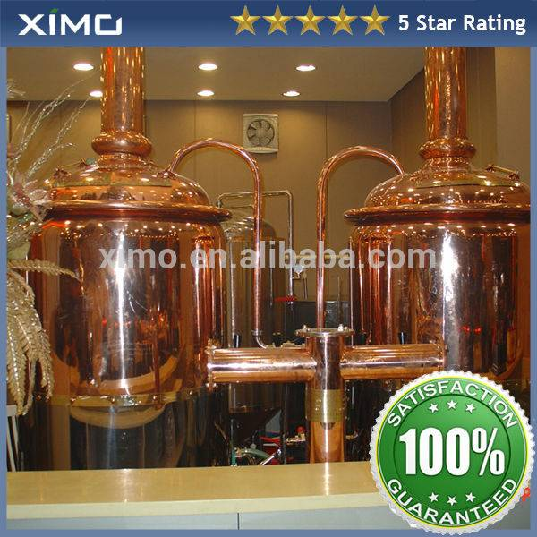 600L Brewpub/bar micro copper brewery equipment