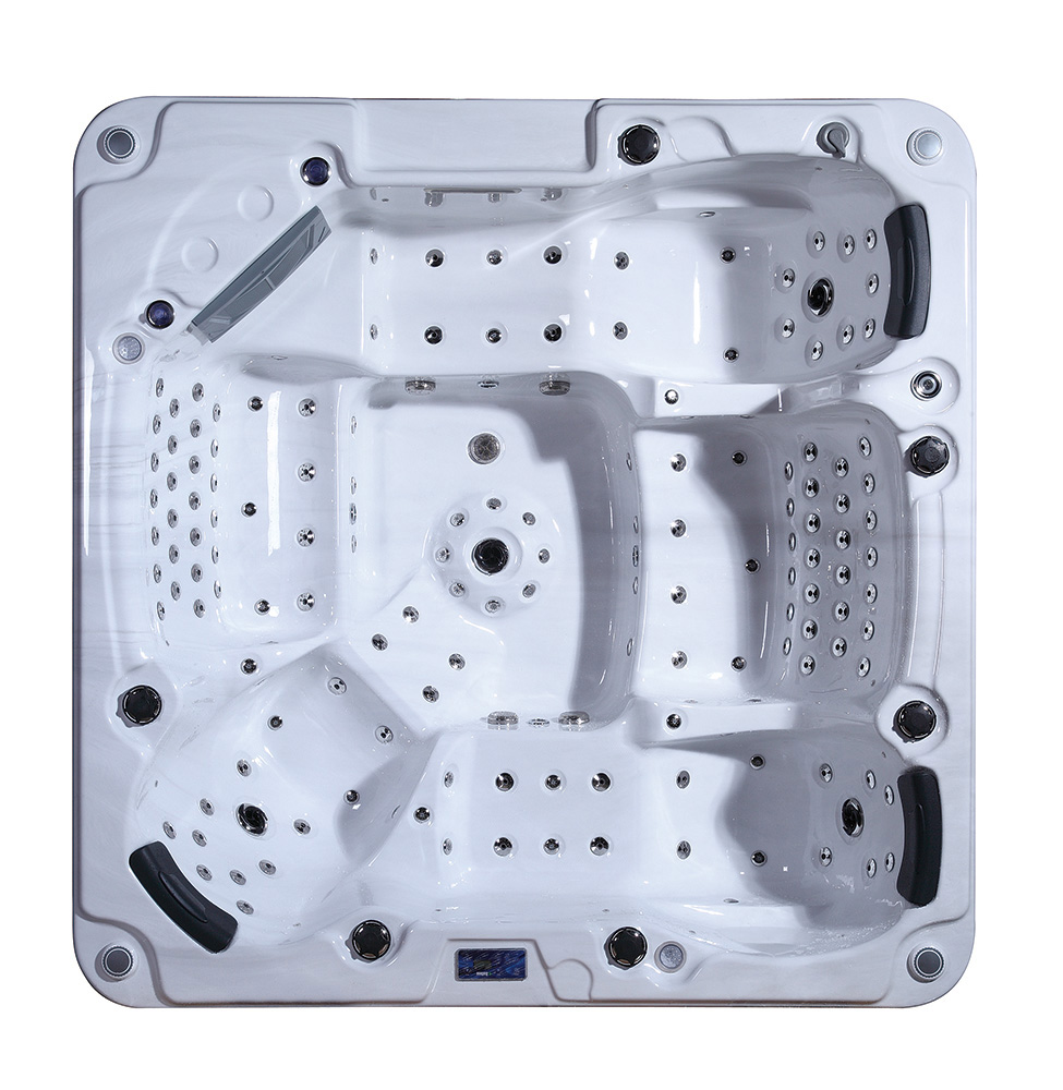 Factory price our door spa with massage jets and Led lights BG-8836