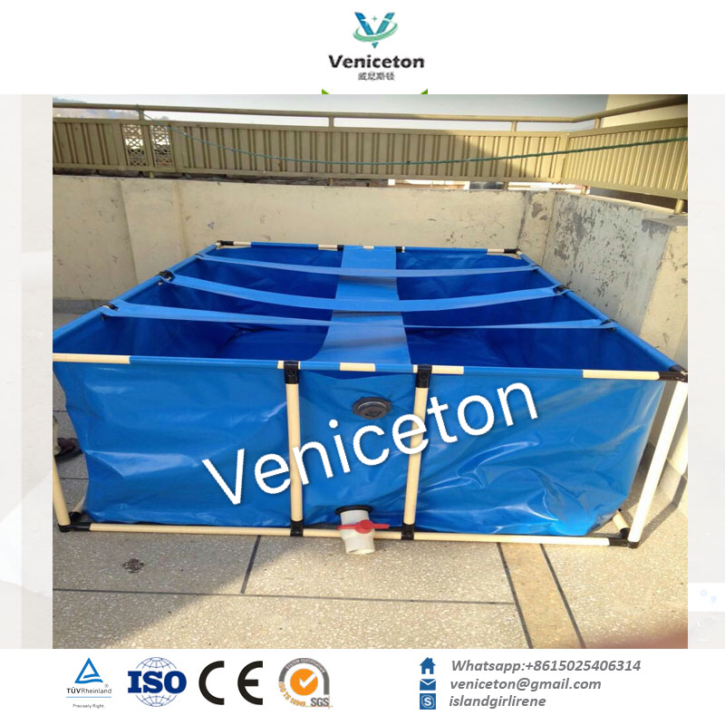 Veniceton Outdoor PVC Flexible Plastic Fish Ponds For Fish Farm