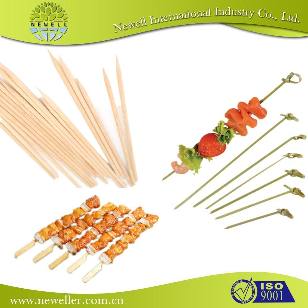 Best price wooden BBQ bamboo skewer