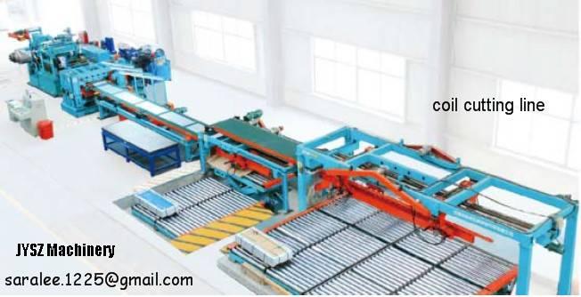 aluminum strip shearing line levelling