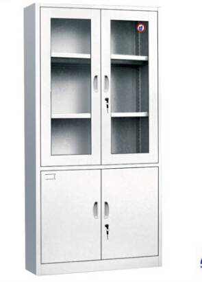 Two Drawer Appliance Cabinet, Modern Simple 4 Glass Steel Filing Cabinet