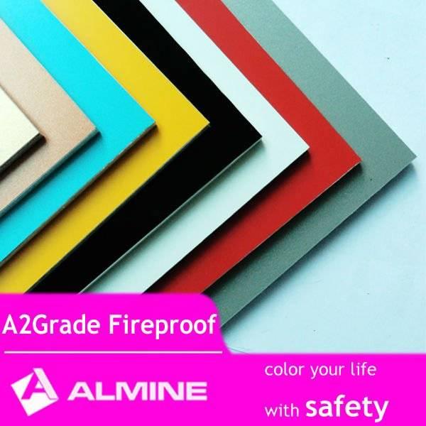 ALMINE---A2 / B1 Fireproof ACP panel, Facade Cladding, Exterior Decorative Panel ,Aluminium Composie