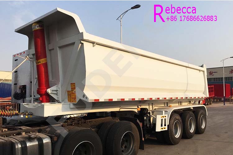 High capacity 3 axle tipper semi trailer dump trailer for sale