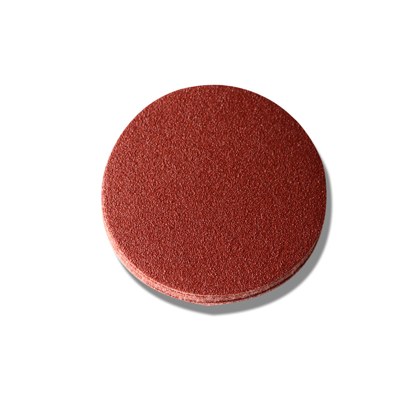 Red Round Flocking Sand Paper Disc Drawn Sand Paper Customized Self-adhesive Sand Paper Grinding Pap