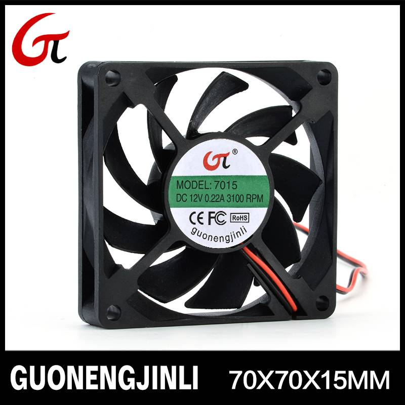 Manufacture selling 12V 7015 dc cooling fan for PC case