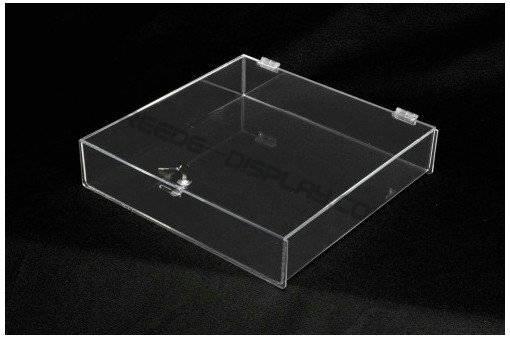 Acrylic locking countertop tray /acrylic display box/ retail display box