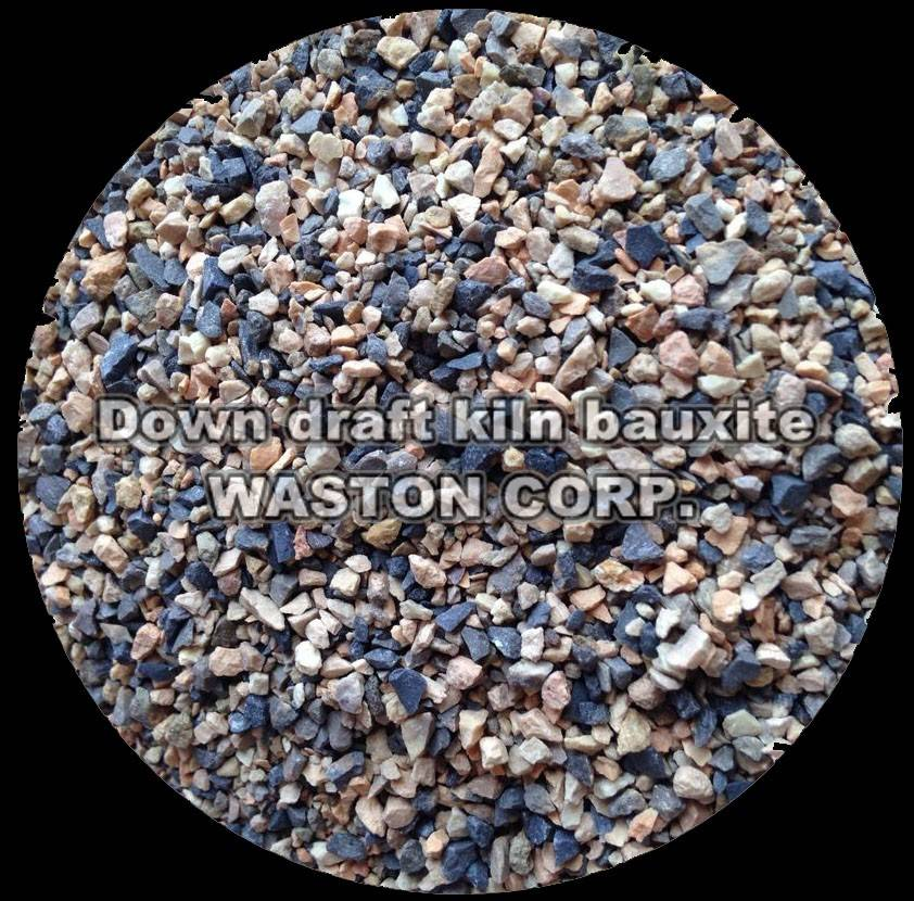 Down draft kiln bauxite