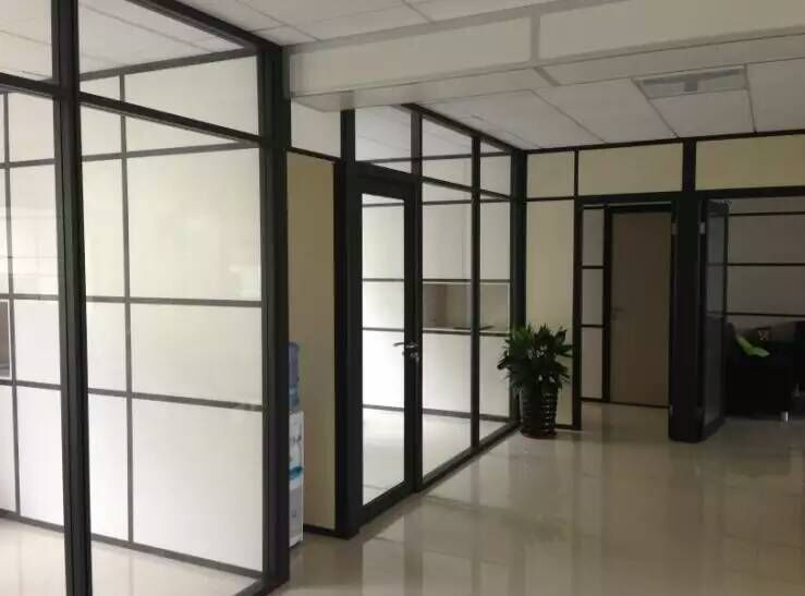 Using Office Glass Partition Good Accessories Soundproof Framework Partition Walls &Window
