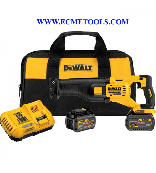 DEWALT FLEXVOLT 60 Volt Brushless Reciprocating Saw Kit_Two FLEXVOLT Batteries_Model DCS388T2