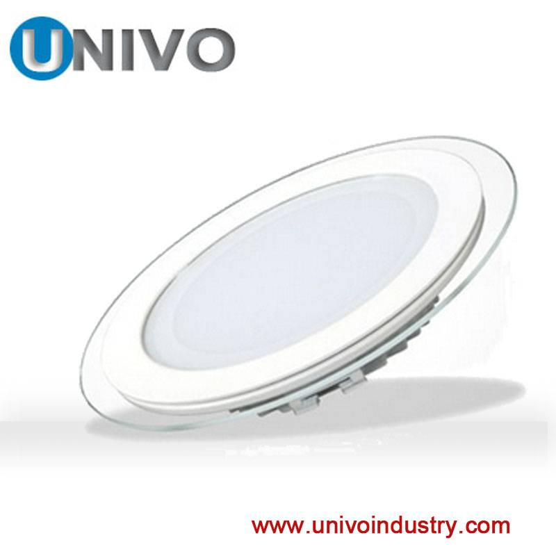 china supplier led light glass and alluminum shell 6w glass panel light wiht changing color