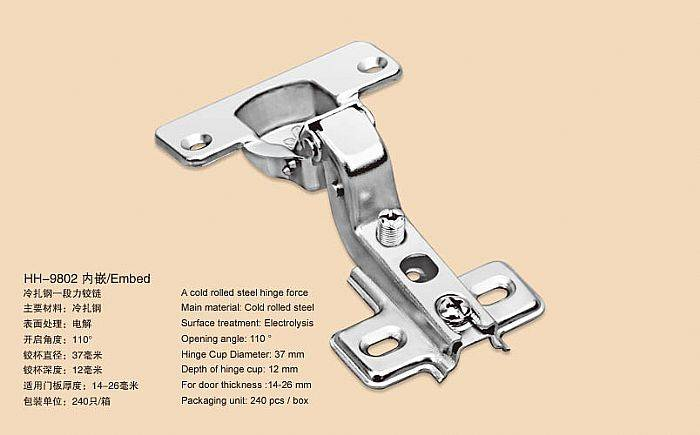 High Quality One Way Concealed Hinge