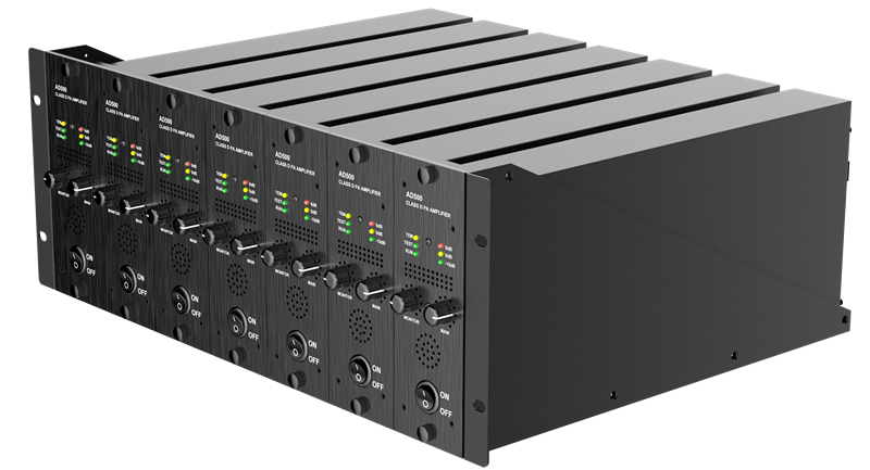 7channel 500W/100V/Channel, 7unit in One Case, Mono AMP Every Unit