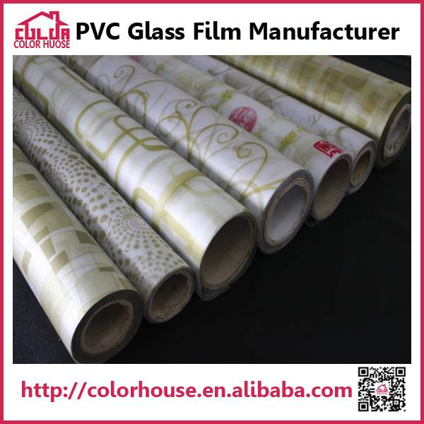 golden static decorative window film covering