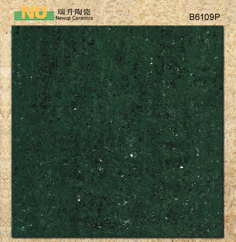 Dark green non-slip polished floor tiles for markatplace