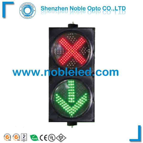 200mm IP65 red cross green arrow traffic signal lights