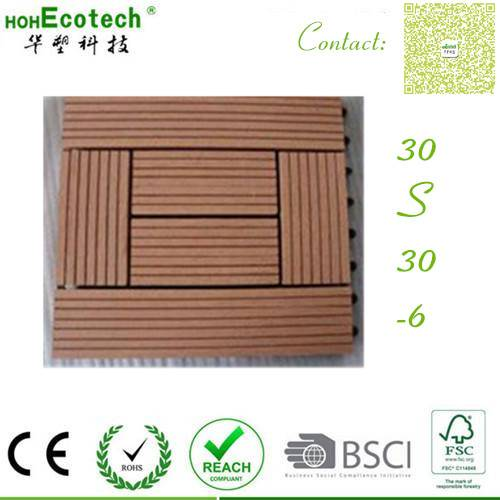 eco recycle decking Exterior anti split wood PE composite tiles