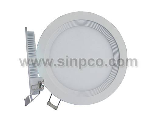 Super slim round LED panel lights recessed downlight 6W 12W 18W 24W