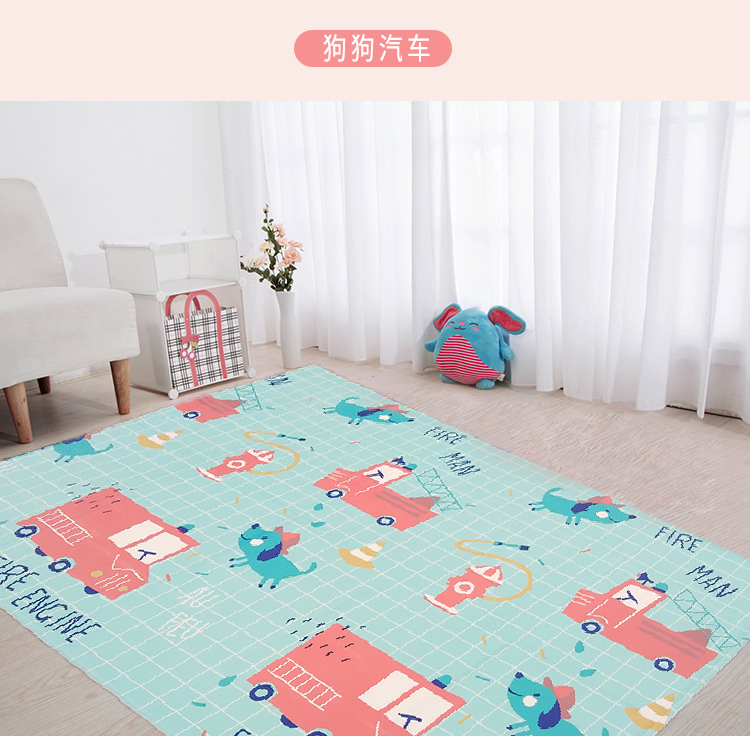 BPA free no odor portable baby play gym mat for children