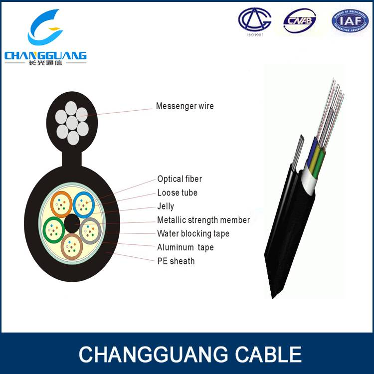 Gytc8a Outdoor Loose Tube Optical Fiber Cable Overhead Figure 8 Fiber Optic Cable for Self-Supportin
