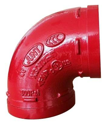 FM UL cUL approved ductile iron grooved coupling and grooved pipe fitting grooved elbow