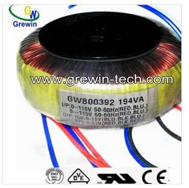 12V 24V 194VA toroidal transformer winding for POWER AMPLIFIER China