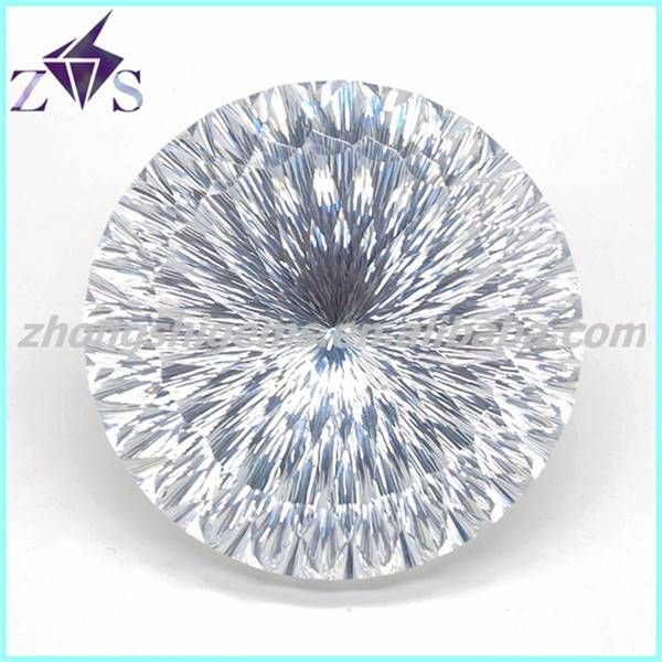 Top Shining Millennium Cut White Zirconia Stone