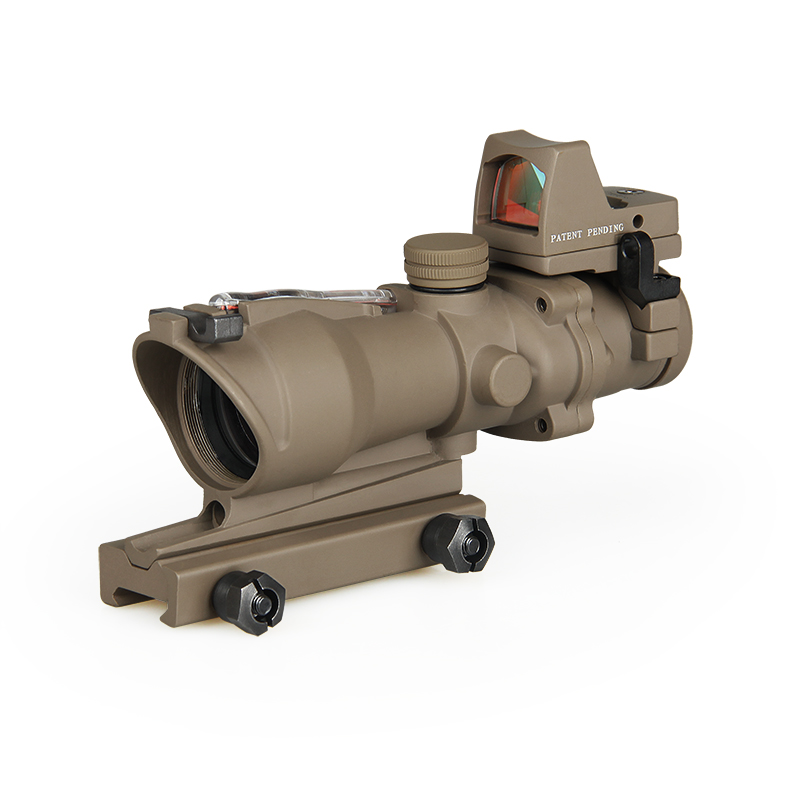 4x32 ACOG style fiber scope with mini red dot sight CL1-0183