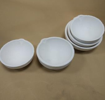 Quartz Silica Melting Crucible Bowl Shape