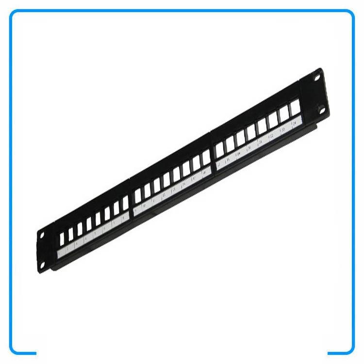 1U 19 Inch 180 Degree Horizontal 24 Port Modular Patch Panels