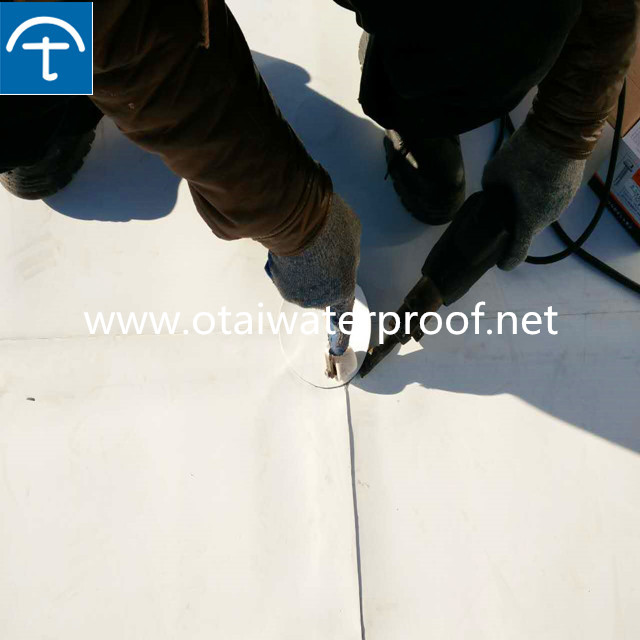 1.5mm 2mm reinforced PVC waterproofing membrane for roof and underground projects