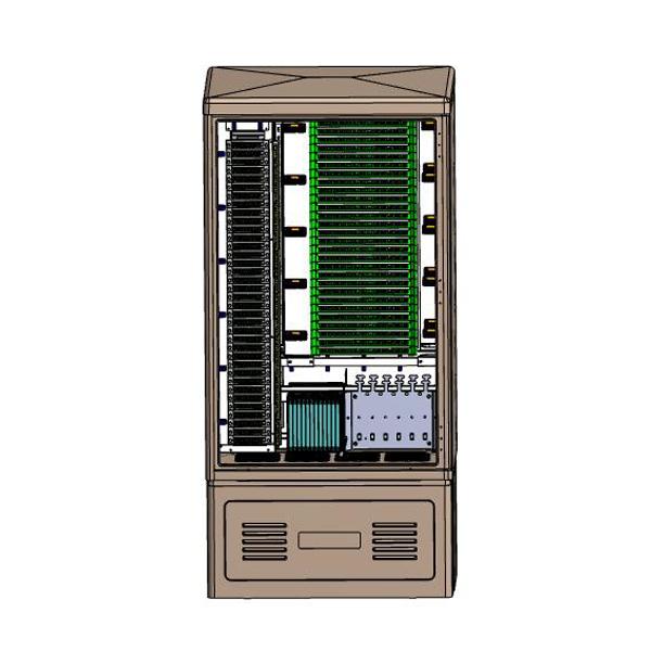 576 Fibers FTTH Splitter Cabinet with 72pcs of 1×8 Insertion Module PLC Splitter