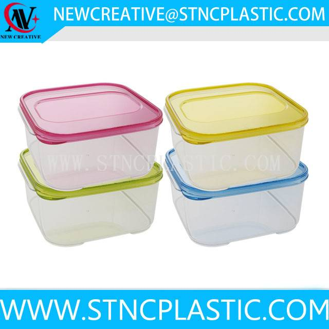 pp plastic food storage container fresh keeping box with lid