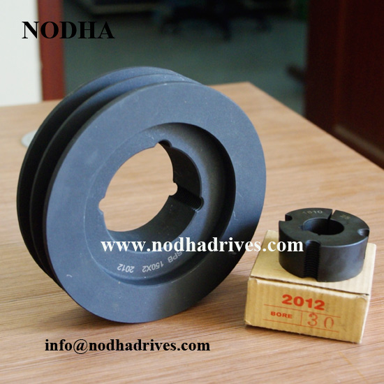 Cast iron taper bush pulley