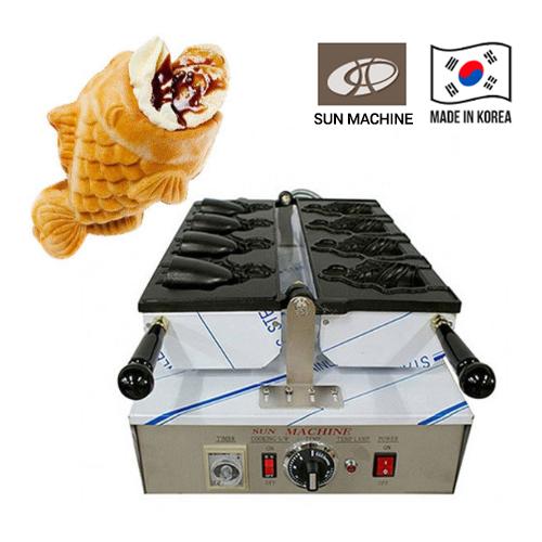 Taiyaki Machine Korea Electric Ice Cream Fish-Shaped Bun 4P Machine Baking machine Made in Korea