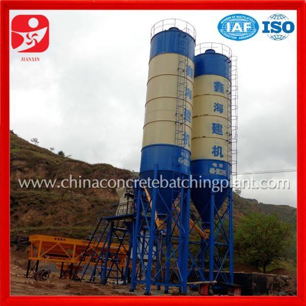Ready stock concrete mixing plant