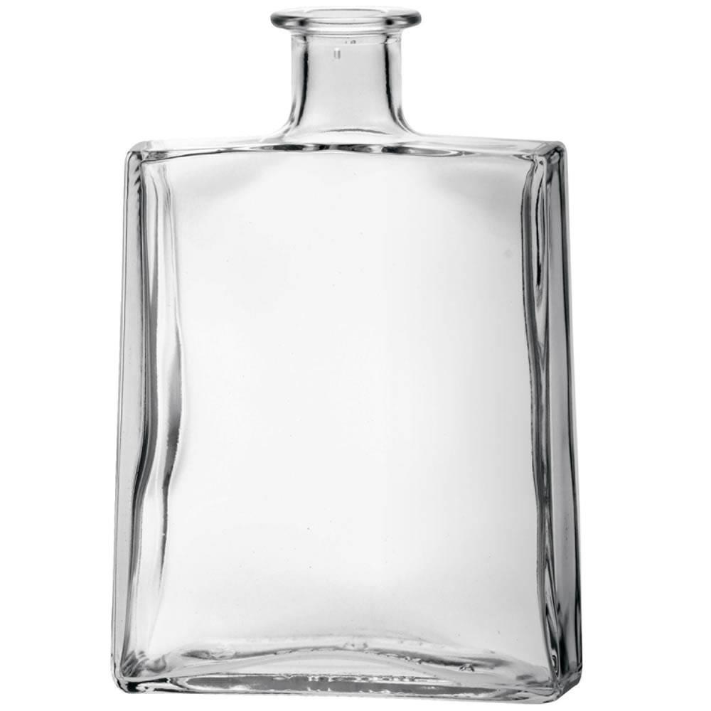 RAMONA squared shape glass bottle