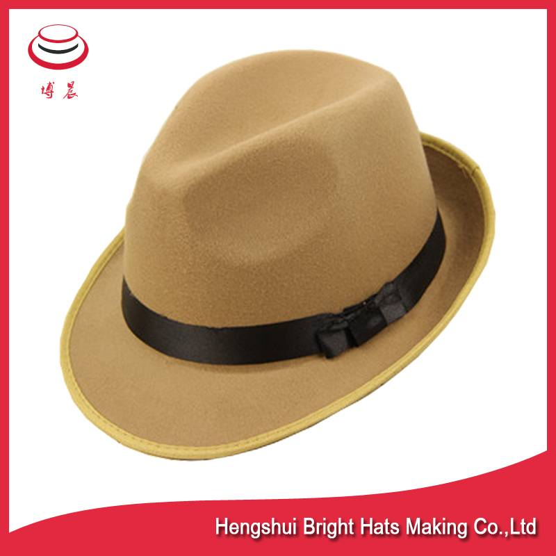 100% wool felt fedora hats stingy brim hats