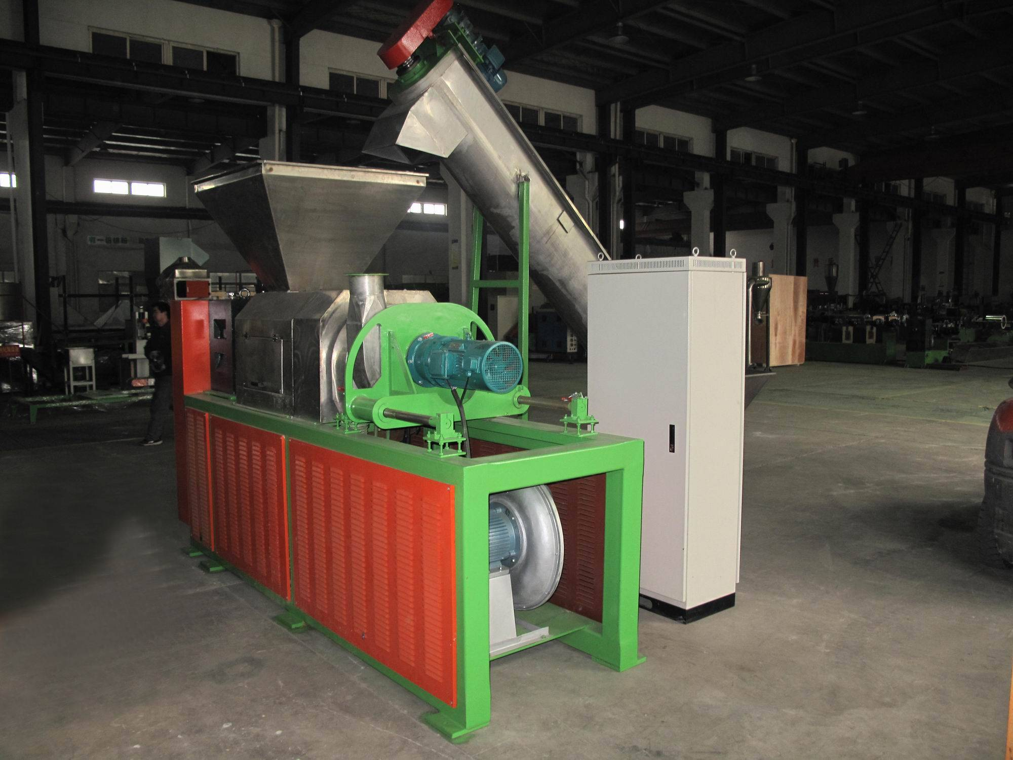 film screw squeezer film dewatering machine plastic squeezer