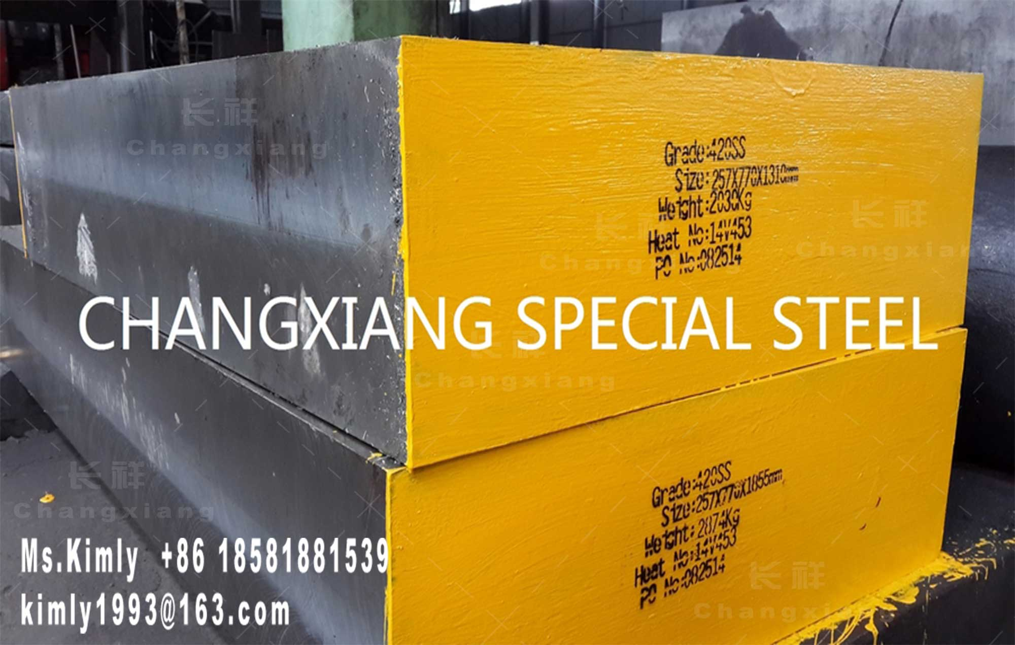 Forged mold die stainless special tool steel SUS420J2 flat round bar forging