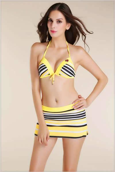 Sexy girl three piece swimwear fashionable swimsuit