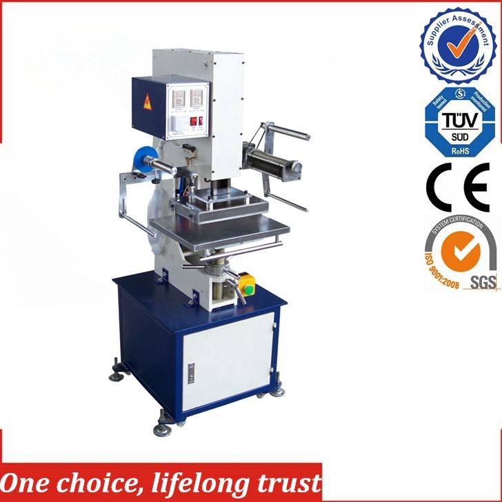 TJ-9 semi-auto hot foil stamping embossing machine for leather paper & card