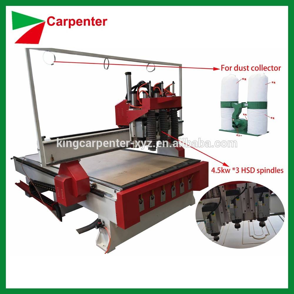 High Quality cnc router KC1325 woodworking machine with automatic lubrication system for woodworking