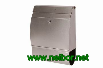 stainless steel mailbox metal post box