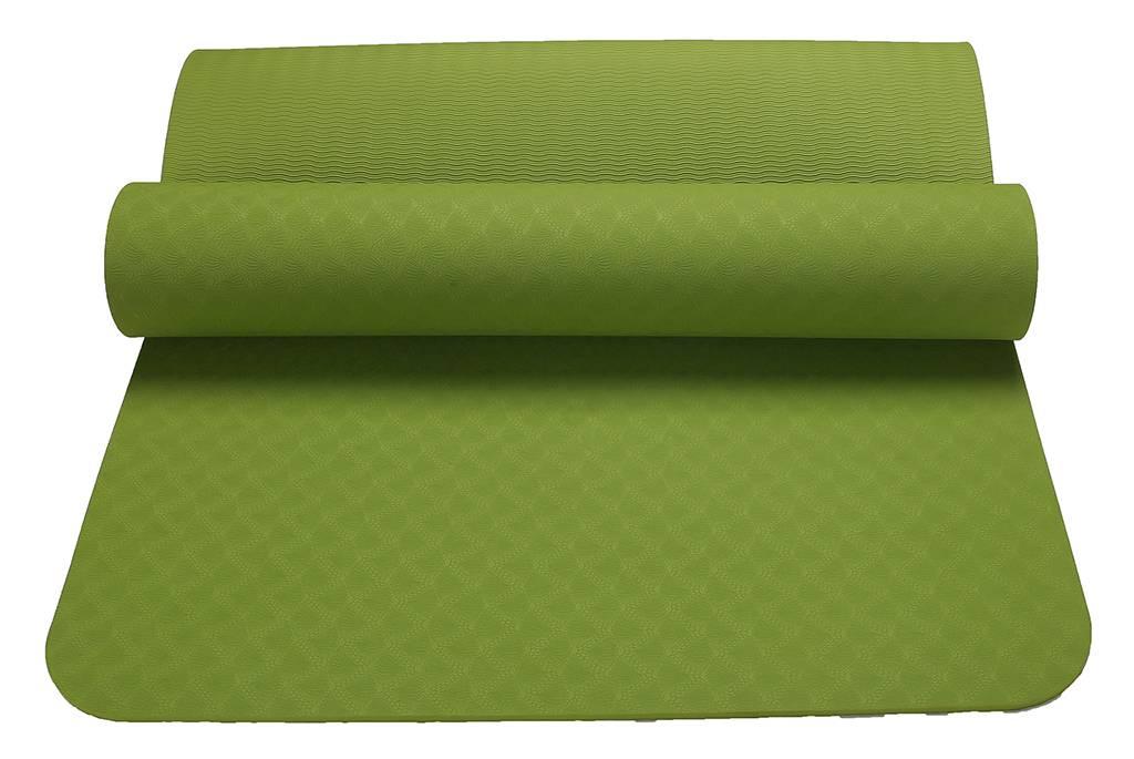 DM mats Non Slip TPE Yoga Mat for Hot Yoga Pilate Gymnastics Bikram Meditation Towel- High Density T