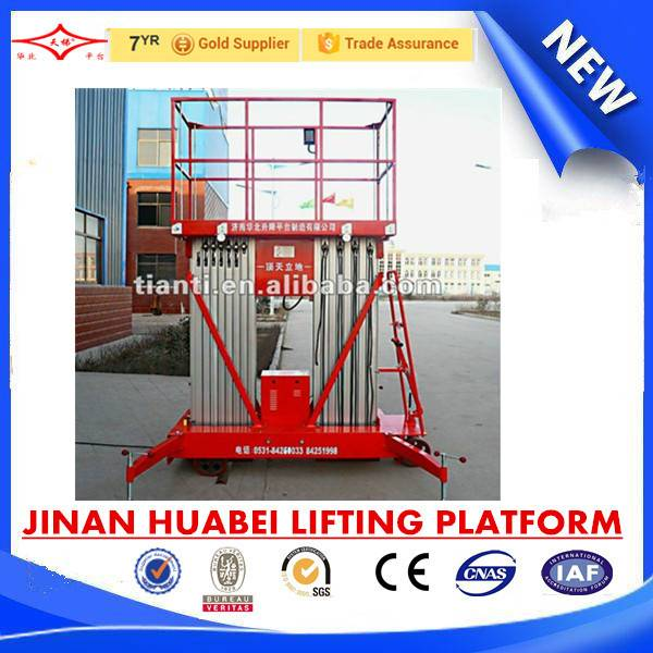 single mast aluminum alloy work platform