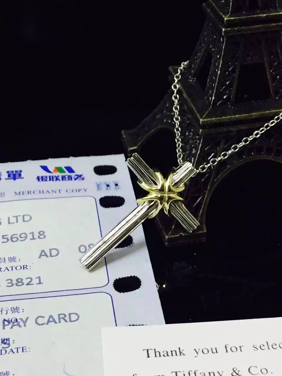 NEFFLY 2016 NEW ARRIVAL S925 SILVER CROSS PENDANT NECKLACE FREE SHIPPING